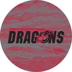 MSUM Dragons in Black Concrete 2 on Red Sandstone Car Coaster