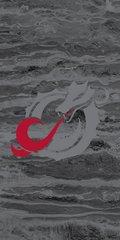 MSUM Grey Dragon Concrete 2 on Black Dauphin™ Hard Rubber Case Phone Case