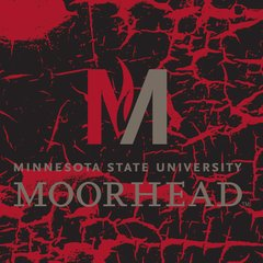 "MSUM 'M' Logo on Cracked background 2 4.25"" Ceramic Tile"
