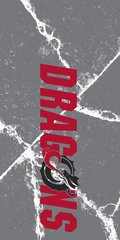MSUM Dragons in Red Cracks 1 on Grey Dauphin™ Hard Rubber Case Phone Case