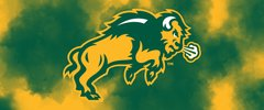 NDSU Body Logo on Clouds 2 Rectangle Ring Stand™ Phone Holder