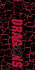MSUM Dragons in Red Cracks 4 on Black Dauphin™ Hard Rubber Case Phone Case
