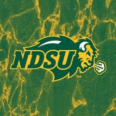 NDSU Primary Logo Marble 1 Square Sandstone Coaster