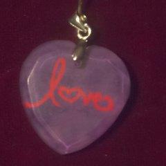"""love"" Crystal Heart Pendant"
