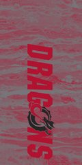 MSUM Dragons in Red Concrete 2 on Red Dauphin™ Hard Rubber Case Phone Case