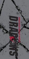 MSUM Dragons in Black Cracks 2 on Grey Dauphin™ Hard Rubber Case Phone Case