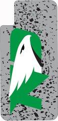 iPhone X UND Green Logo Confetti 1 on Grey Dauphin™ Hard Rubber Case Phone Case