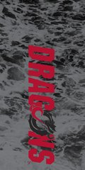 MSUM Dragons in Red Water 1 on Black Dauphin™ Hard Rubber Case Phone Case