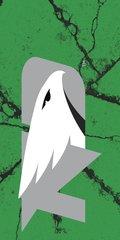 UND Grey Logo Cracks 2 on Green Dauphin™ Hard Rubber Phone Case