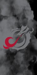 MSUM Grey Dragon Clouds 1 on Black Dauphin™ Hard Rubber Case Phone Case