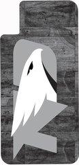 iPhone X UND Grey Logo Marble 1 on Grey Dauphin™ Hard Rubber Case Phone Case