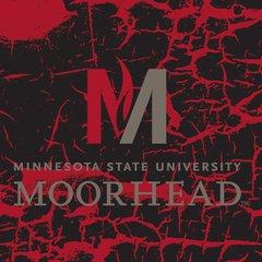 "MSUM 'M' Logo on cracked background 2 4"" square Sandstone Coaster"