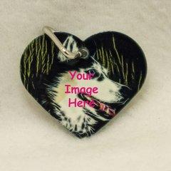 Custom Heart Shaped Pet Tag