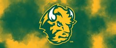 NDSU Head Logo on Clouds 2 Rectangle Ring Stand™ Phone Holder