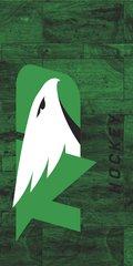 UND Hockey Marble 1 on Green Dauphin™ Hard Rubber Phone Case