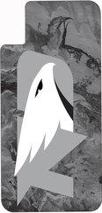 iPhone X UND Grey Logo Concrete 1 on Grey Dauphin™ Hard Rubber Case Phone Case