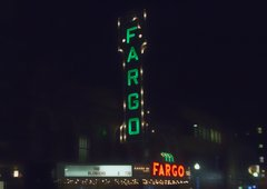"8"" X 11"" Fargo Theater #3 Glass Cutting Board"