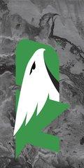 UND Green Logo Concrete 1 on Grey Dauphin™ Hard Rubber Phone Case