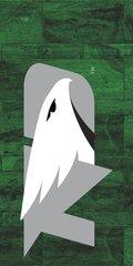 UND Grey Logo Marble 1 on Green Dauphin™ Hard Rubber Phone Case