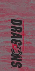 MSUM Dragons in Black Concrete 2 on Red Dauphin™ Hard Rubber Case Phone Case