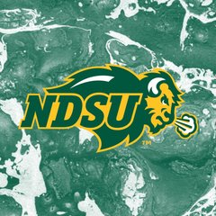 NDSU Primary Logo Concrete 2 Square Sandstone Coaster
