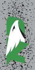 UND Green Logo Confetti 1 on Grey Dauphin™ Hard Rubber Phone Case