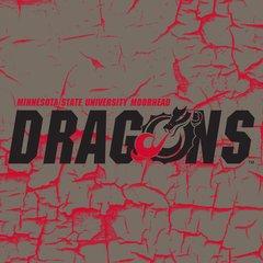 "MSUM Dragons on cracked background 1 4"" square Sandstone Coaster"