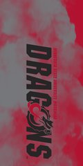 MSUM Dragons in Black Clouds 1 on Red Dauphin™ Hard Rubber Case Phone Case