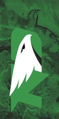 UND Green Logo Concrete 1 on Green Dauphin™ Hard Rubber Phone Case