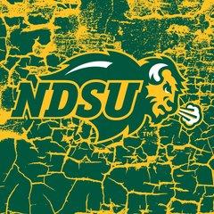 "NDSU Primary Logo Cracks 1 4.25"" Ceramic Tile"