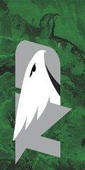 UND Grey Logo Concrete 1 on Green Dauphin™ Hard Rubber Phone Case