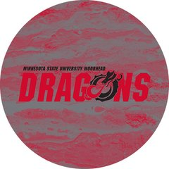 MSUM Dragons in Red Black Dragon Concrete 2 on Red Sandstone Car Coaster