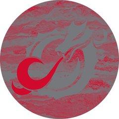 MSUM Grey Dragon Concrete 2 on Red Sandstone Car Coaster