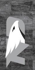UND Grey Logo Marble 1 on Grey Dauphin™ Hard Rubber Phone Case