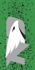 UND Grey Logo Confetti 1 on Green Dauphin™ Hard Rubber Phone Case