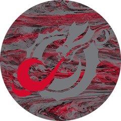 MSUM Grey Dragon Concrete 1 on Red Sandstone Car Coaster