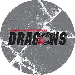 MSUM Dragons in Black Cracks 1 on Grey Sandstone Car Coaster