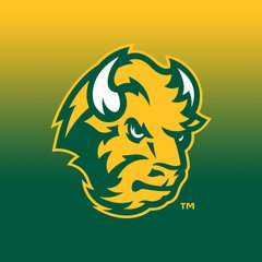 NDSU Head Logo Gradient 1 Square Sandstone Coaster