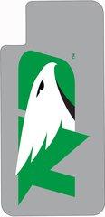 iPhone X UND Green Logo on Grey Dauphin™ Hard Rubber Case Phone Case
