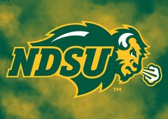 "NDSU Primary Logo Clouds 1 8"" X 11"" Glass Cutting Board"