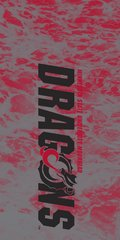 MSUM Dragons in Black Water 1 on Red Dauphin™ Hard Rubber Case Phone Case
