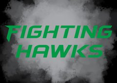 "Fighting Hawks Clouds background 1 8"" X 11"" Glass Cutting Board"