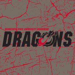 "MSUM Dragons Logo on Cracked background 3 6"" Ceramic Tile"