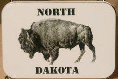 "2.75"" X 4"" North Dakota Frac Bison Gift Tin"