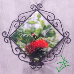 Small Postman Butterfly Wrought Iron Candle Holder