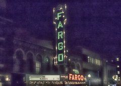 "8"" X 11"" Fargo Theater #3HDR Glass Cutting Board"