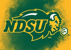 "NDSU Primary Logo Clouds 2 8"" X 11"" Glass Cutting Board"