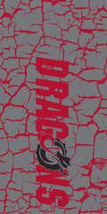 MSUM Dragons in Red Cracks 4 on Grey Dauphin™ Hard Rubber Case Phone Case