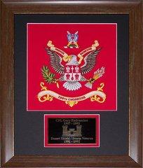Desert Shield / Storm Veterans' Framed Colors with Plate.