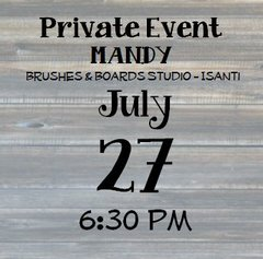 07-27 Private Event - Mandy 6:30 pm